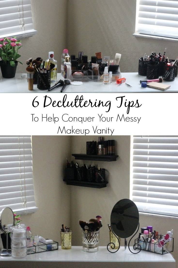 To Help Conquer Your Messy Makeup Vanity